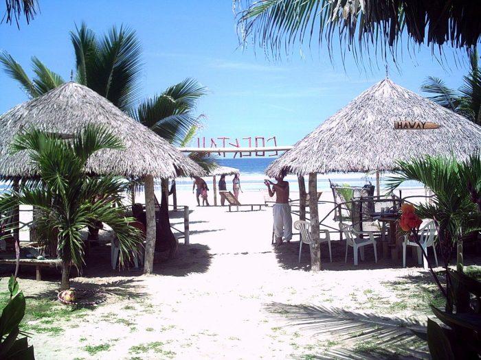 Bela praia no Equador