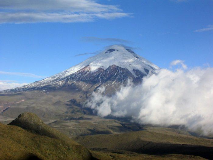 Vulcão localizado no Equador