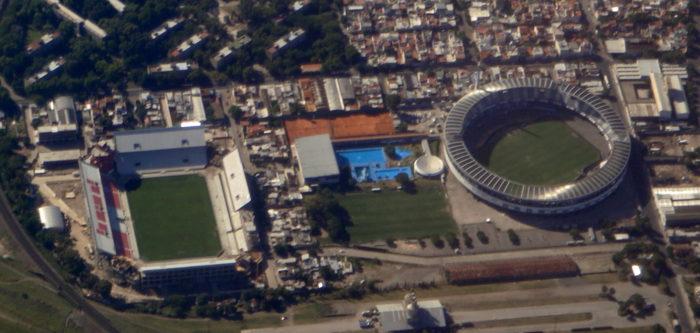 Estádios de Independiente e Racing na Argentina