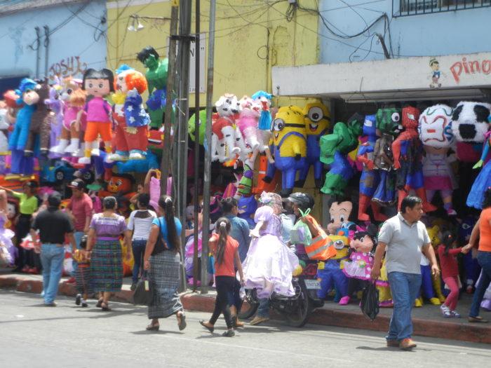 Comércio na Zona 1 da Cidade da Guatemala