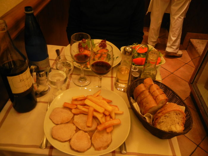 Variadas opções de prato nos bons restaurantes de Roma