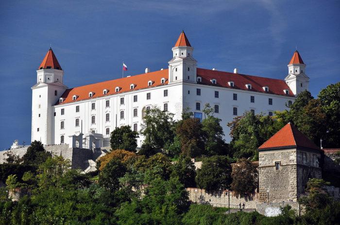 O Castelo de Bratislava, na Eslováquia