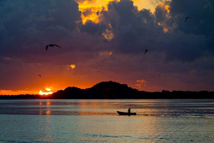 Nascer do sol na Ilha do Cardoso