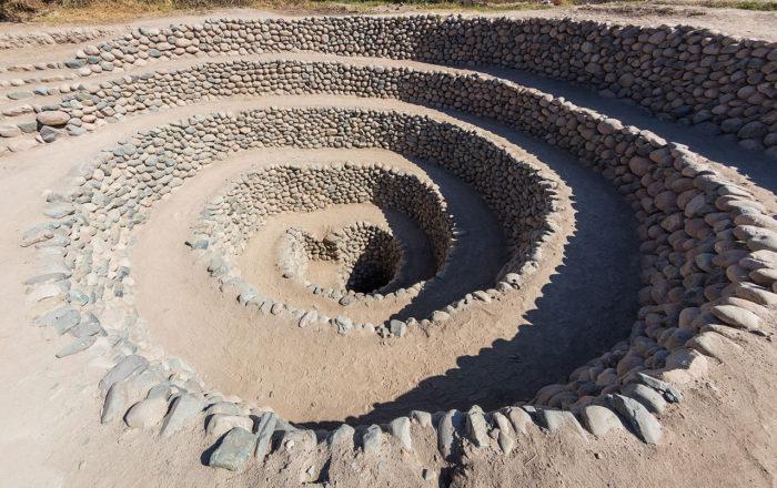 Antigos Aquedutos em Nazca, no Peru