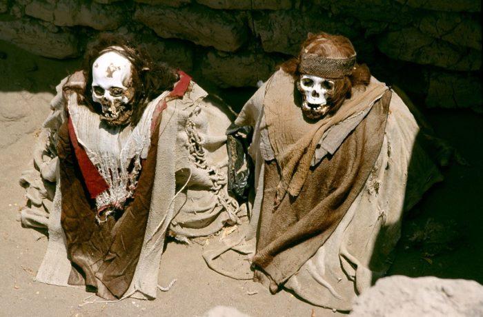 Cemitério de Chauchilla em Nazca, no Peru