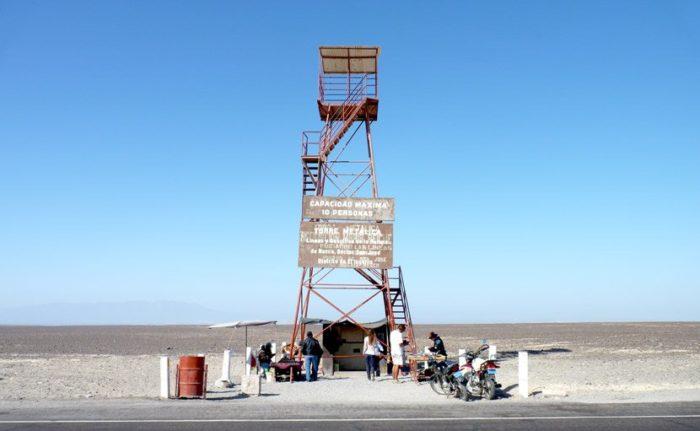 Mirante de observação das Linhas de Nazca, no Peru