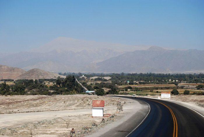 Vista do Cerro Blanco nos arredores de Nazca, no Peru
