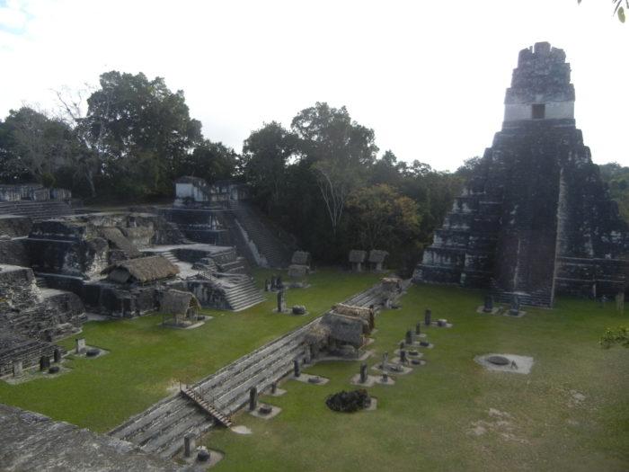 O Templo do Jaguar em Tikal na Guatemala