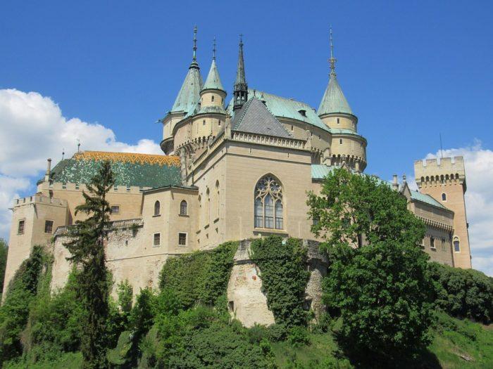 O Castelo Bojnice na Eslováquia