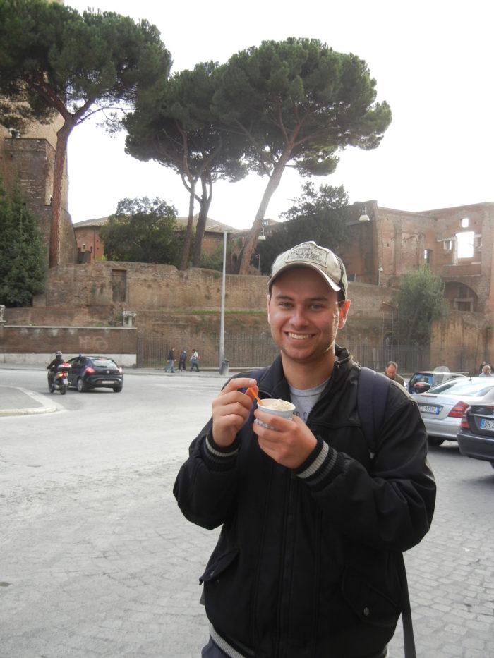 Gelato (sorvete) italiano em Roma