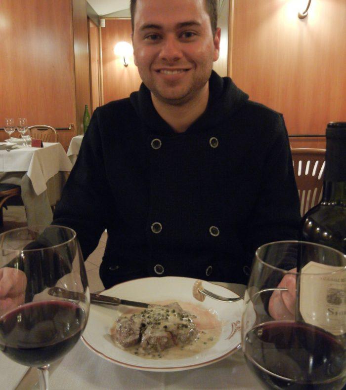 Filé com molho de pimentas no Da Vicenzo, em Roma