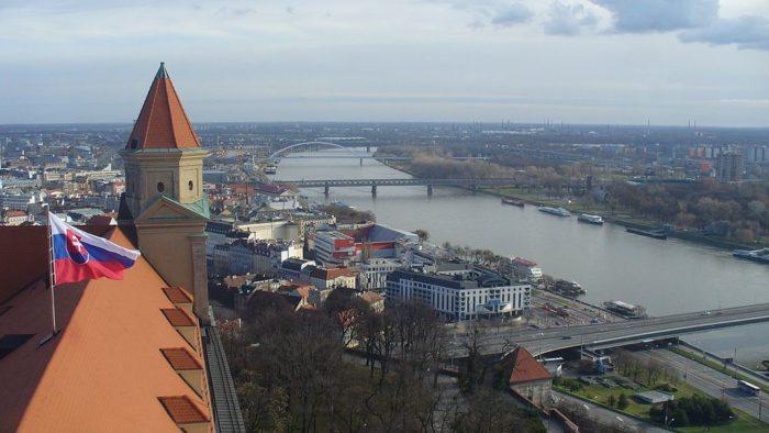 Vista do Castela de Bratislava, Eslováquia