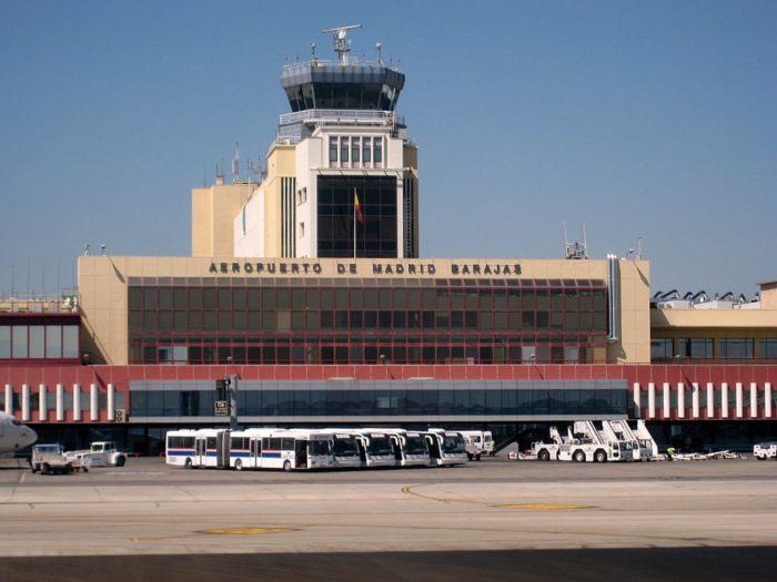 O Aeroporto de Barajas em Madri