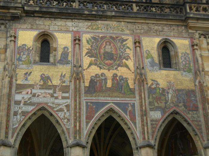 Detalhes da região do Castelo de Praga, República Tcheca