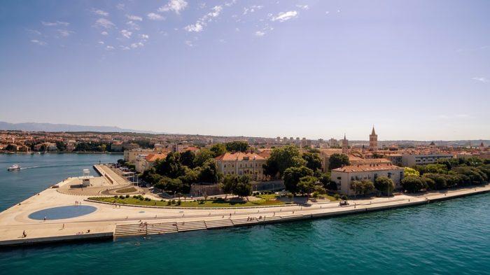 Vista do Centro Histórico de Zadar, na Croácia