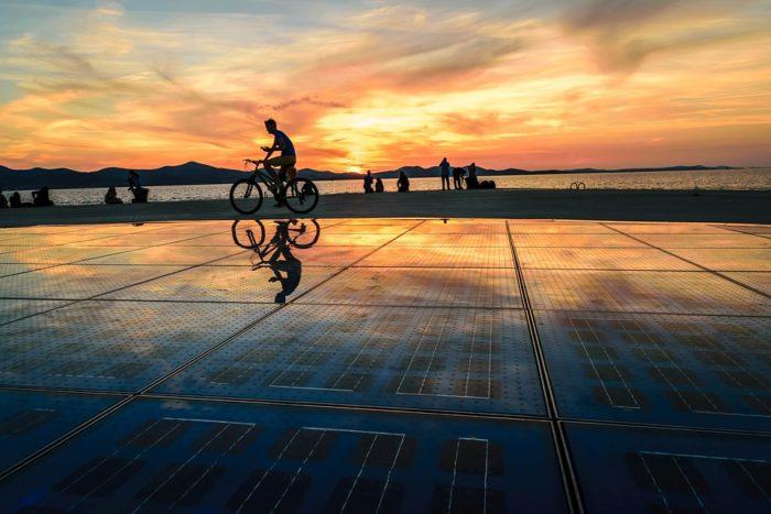 Pôr do Sol em Zadar, na Croácia